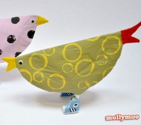 paper plate chick 2